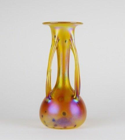 CZECH ART GLASS VASE BY IGOR MULLER