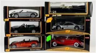 6 MAISTO METAL DIE CAST CARS IN ORIG. BOXES