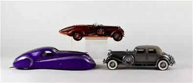 3 FRANKLIN MINT METAL DIE CAST CARS
