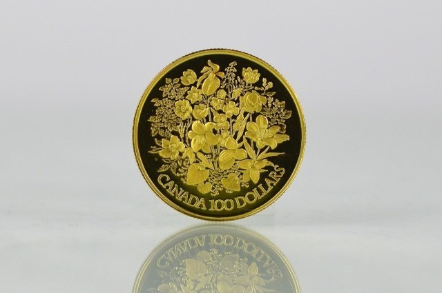1977 CANADIAN ONE HUNDRED DOLLAR GOLD PROOF COIN