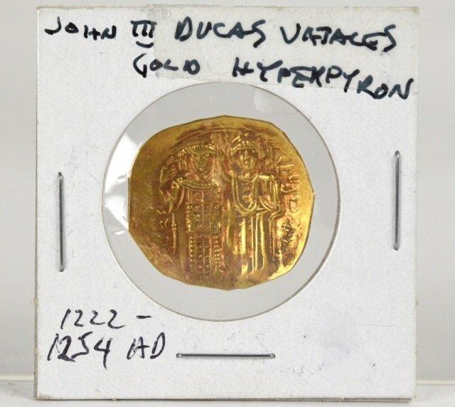 JOHN III DUCAS GOLD HYPERPYRON