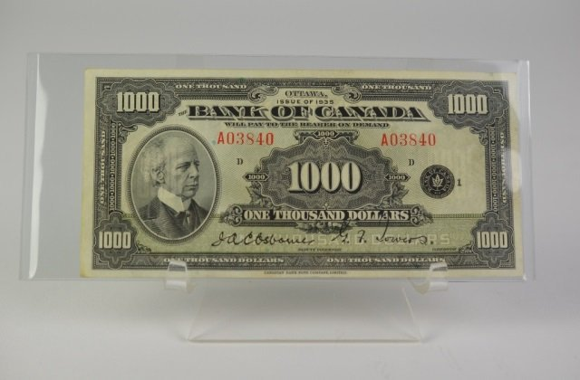 BANK OF CANADA $1000 BANKNOTE