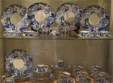ROYAL CROWN DERBY BLUE MIKADO PORCELAIN DINNERWARE