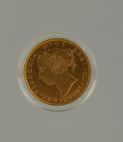 1888 NEWFOUNDLAND $2 GOLD COIN