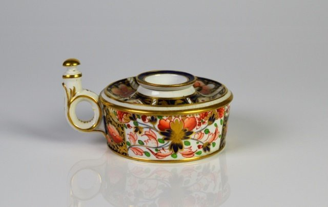 19TH CENTURY DERBY PORCELAIN INK STAND
