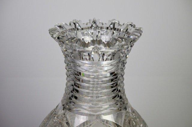 MONUMENTAL BRILLIANT CUT GLASS VASE - 2
