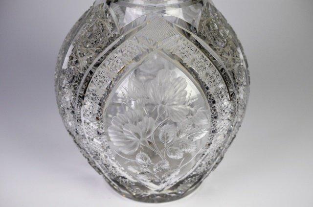 MONUMENTAL BRILLIANT CUT GLASS VASE - 3