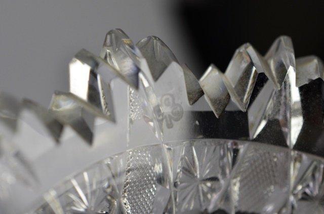 MONUMENTAL BRILLIANT CUT GLASS VASE - 4