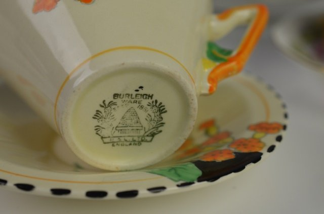 ENGLISH PORCELAIN CUPS AND SAUCERS - 2
