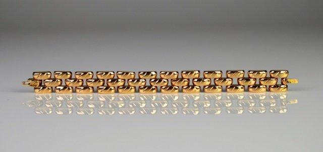 EUROPEAN ROSE GOLD LINK BRACELET