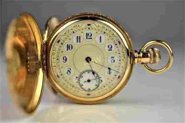 ANTIQUE AMERICAN GOLD POCKET WATCH