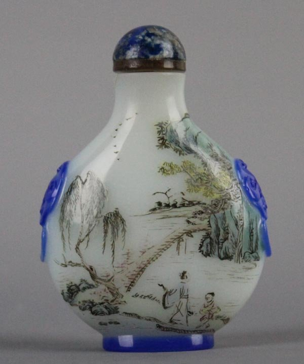 A Chinese Enameled Peking Glass Snuff Bottle. Late Qing