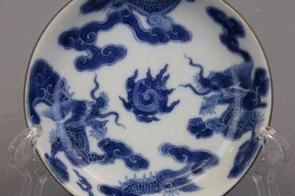 A Rare Imperial Bleu de Hue Blue and White Chinese - 2