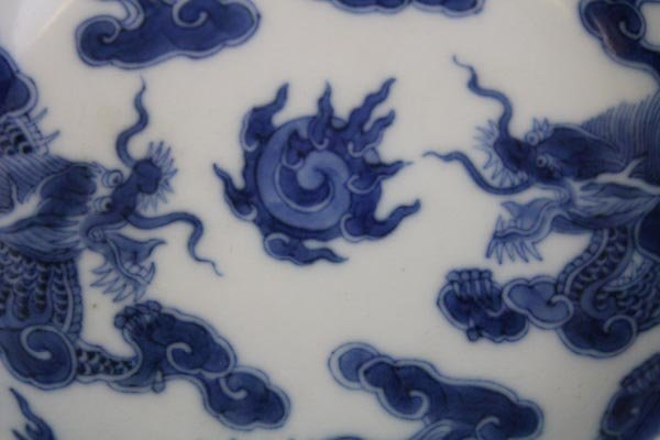 A Rare Imperial Bleu de Hue Blue and White Chinese - 4