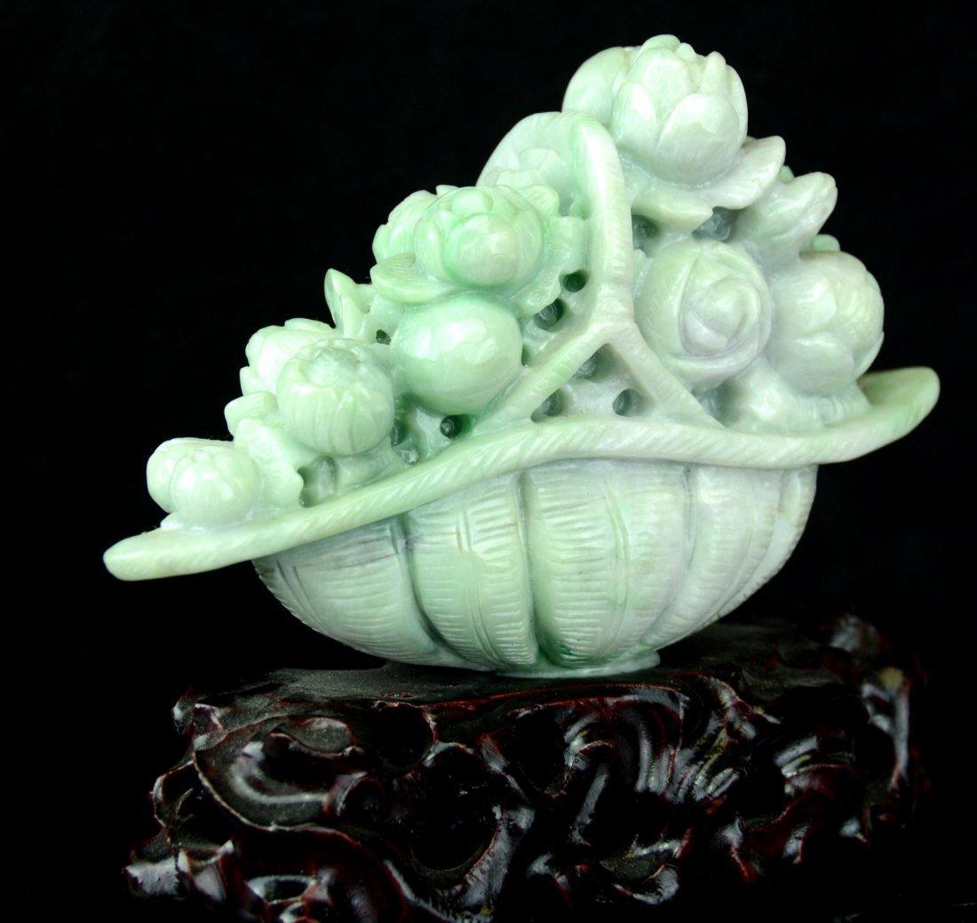 A Chinese Flower CarvedJadeite