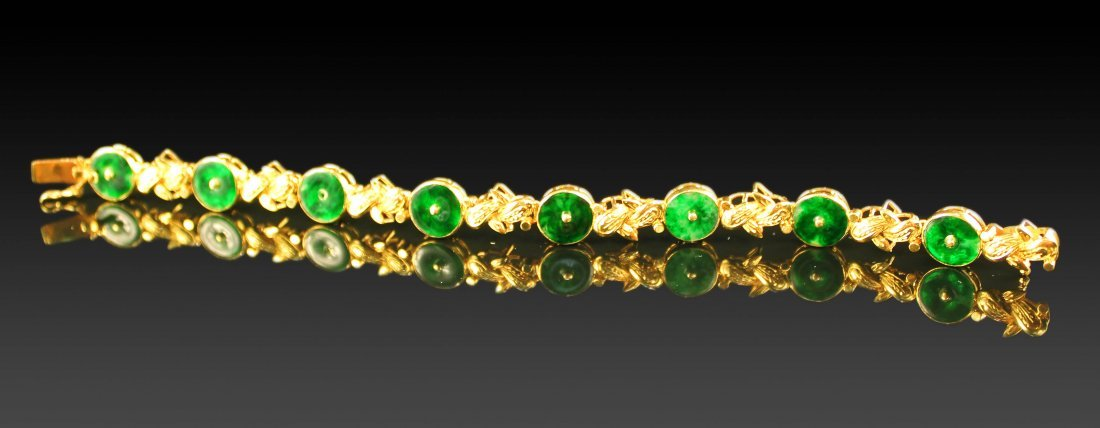 NATURAL CHINESE JADEITE BRACELETS