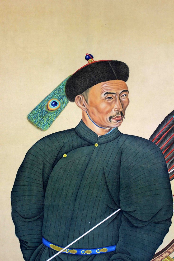LARGE CHINESE FIGURE PAINTING - 6
