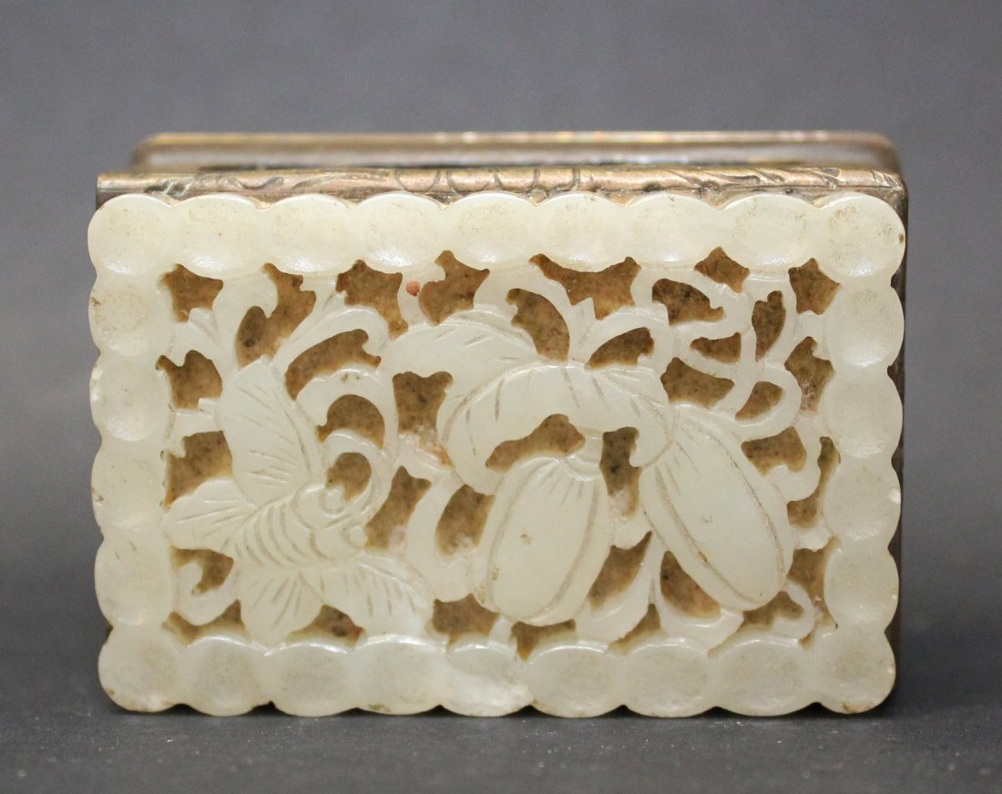 QING DYNASTY, A CHINESE MATCHES BOX MADE IN COPPER WITH