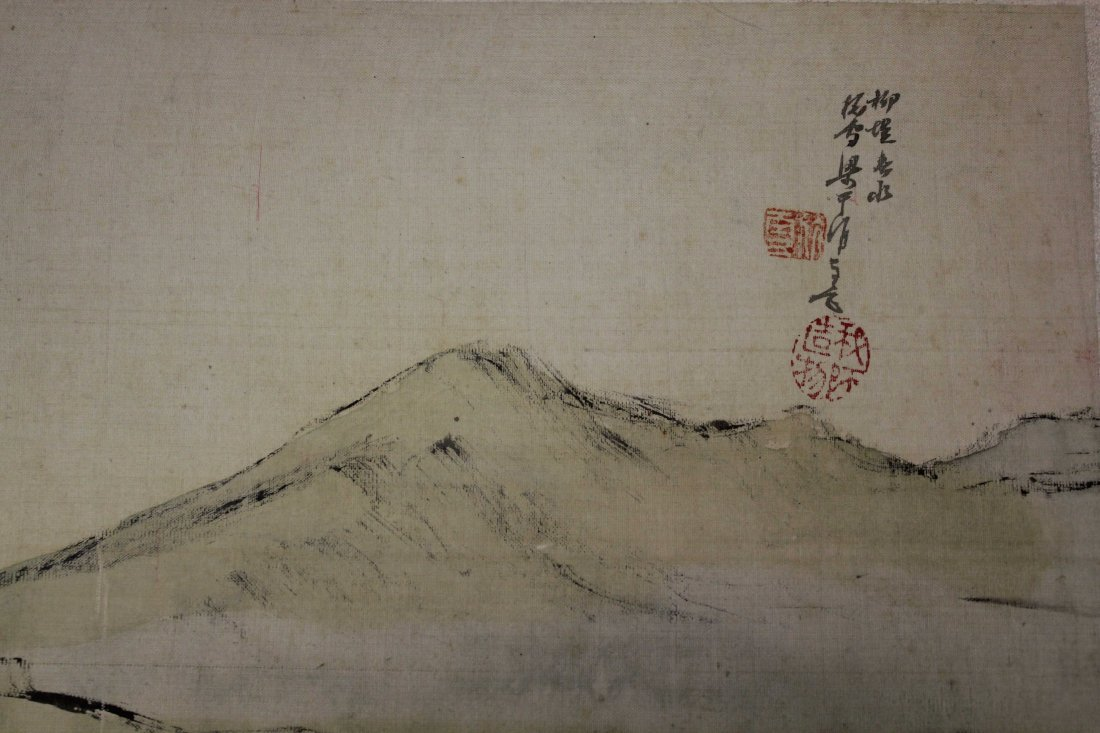 4 PIECES OF CHINESE INK AND COLOR PAINTING ALUMB ON - 7