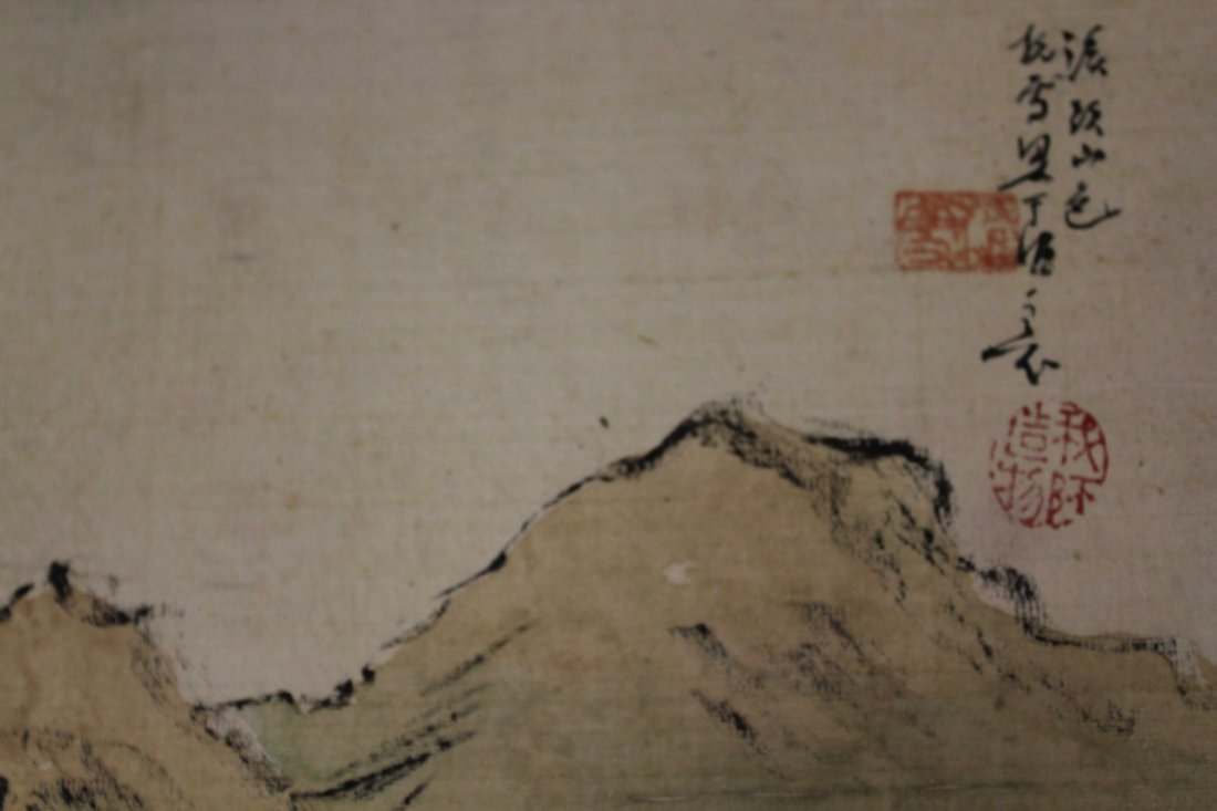4 PIECES OF CHINESE INK AND COLOR PAINTING ALUMB ON - 8