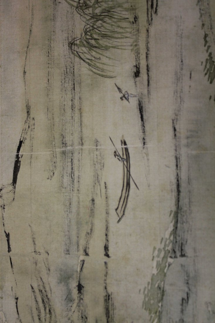 4 PIECES OF CHINESE INK AND COLOR PAINTING ALUMB ON - 9