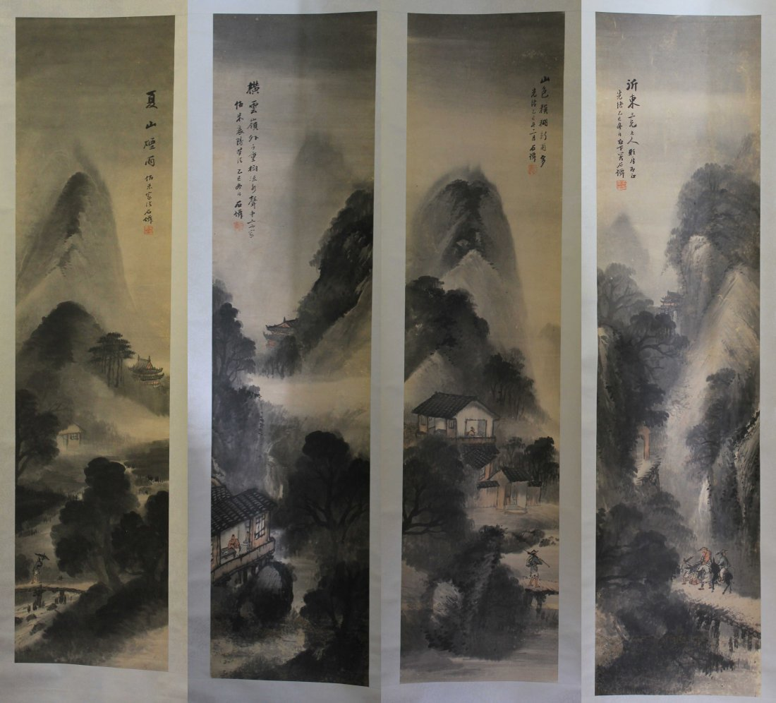 SET OFCHINESE PAINTING SCROLL