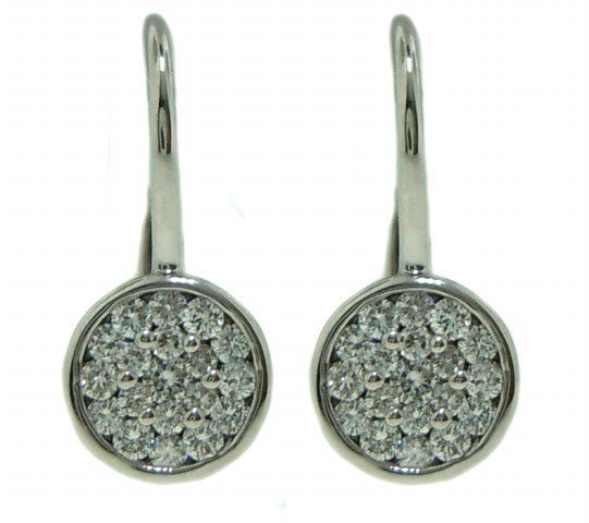 Button Style Diamond Earrings