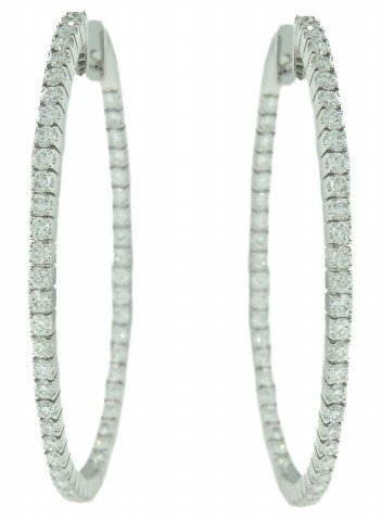 Inside/Outside Diamond Hoop Earrings
