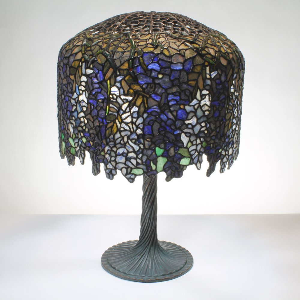 18-inch Wisteria Tiffany-Inspired Gemstone Table Lamp