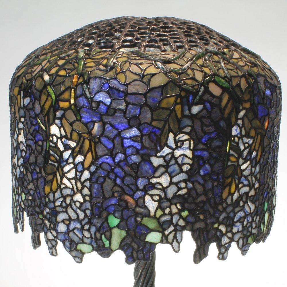 18-inch Wisteria Tiffany-Inspired Gemstone Table Lamp - 2