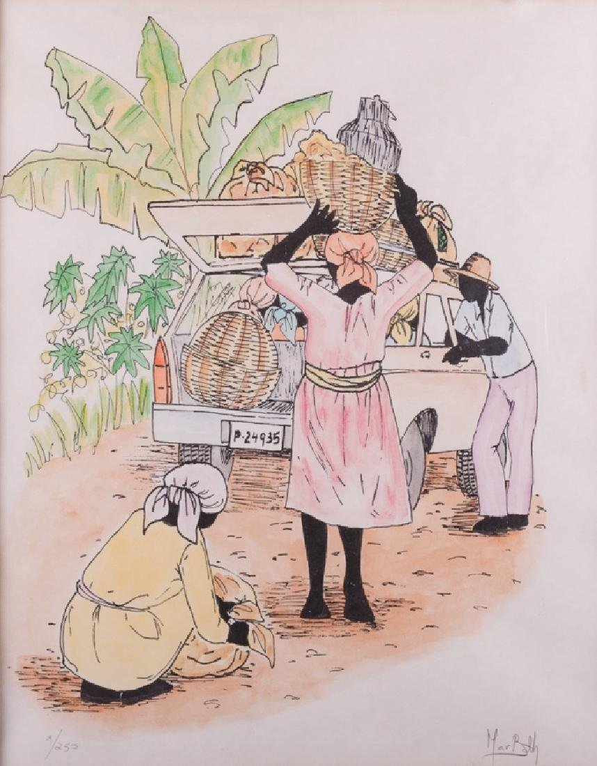 Island Scene Serigraph #9/250 Signed Print