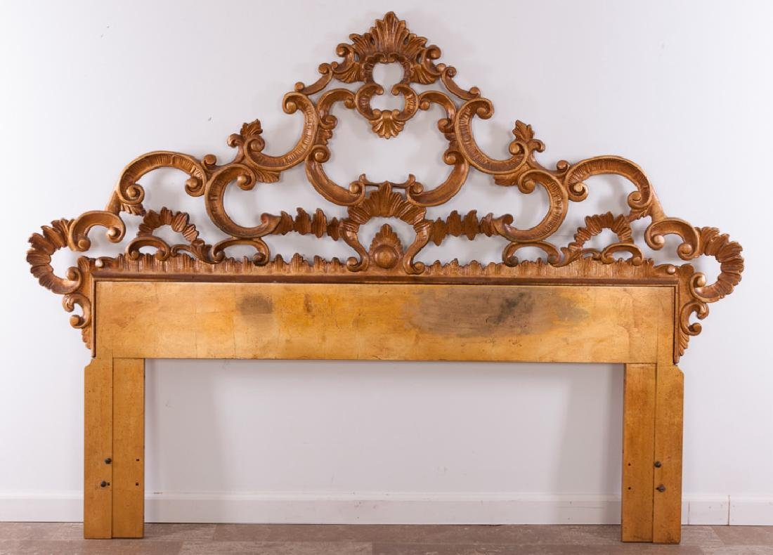 Rococo Style Full / Queen Brass Headboard