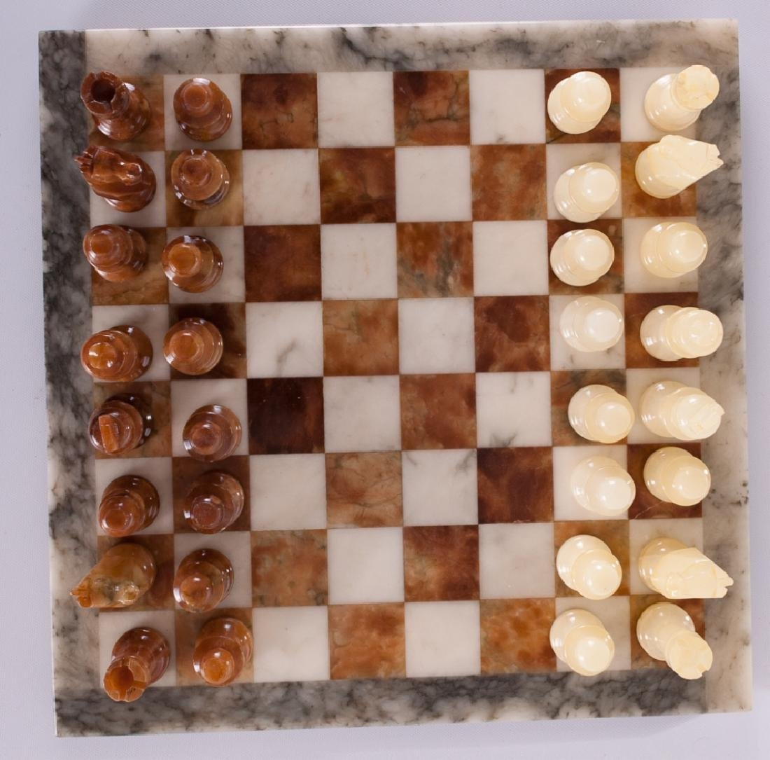 Carved Stone Chess Set - 2