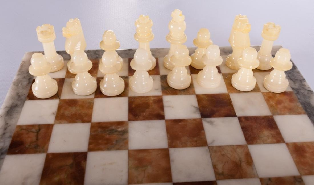Carved Stone Chess Set - 3