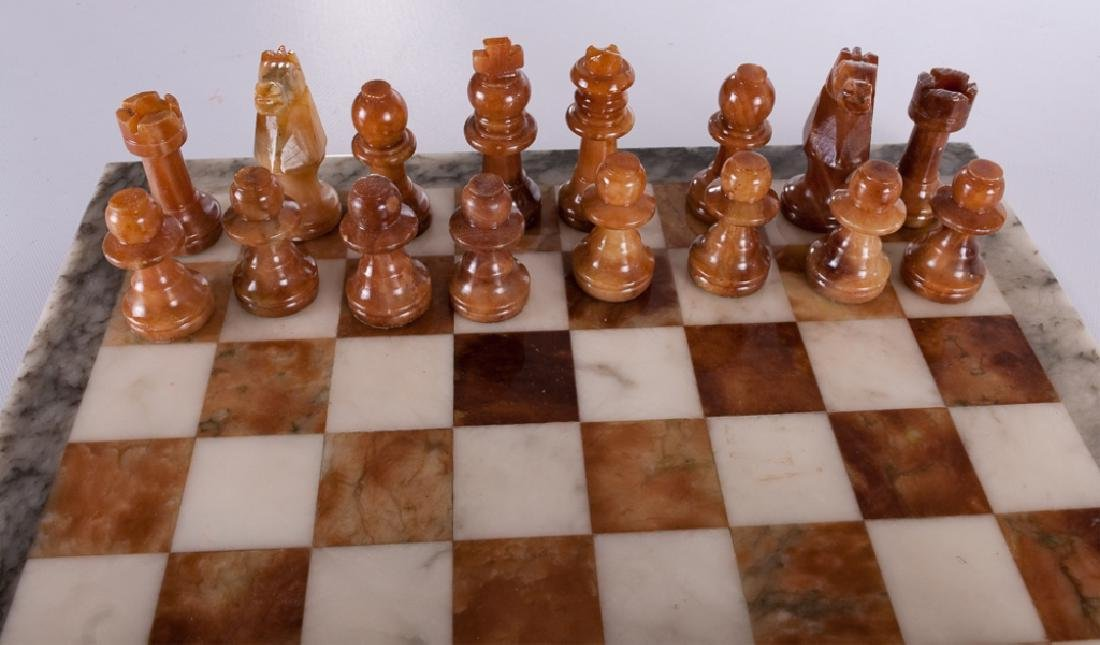 Carved Stone Chess Set - 4