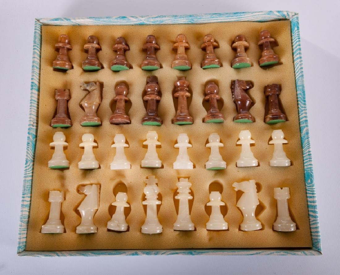 Carved Stone Chess Set - 5