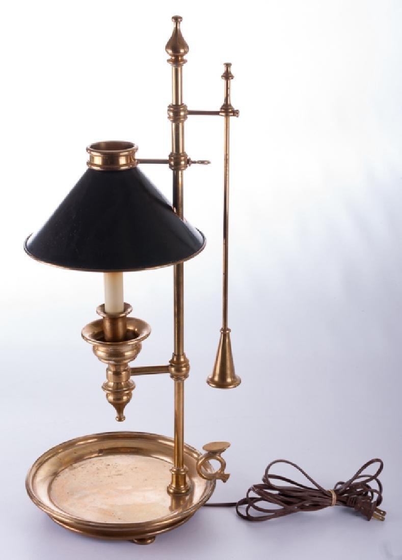 Chapman Chamber Stick Style Brass Lamp - 5