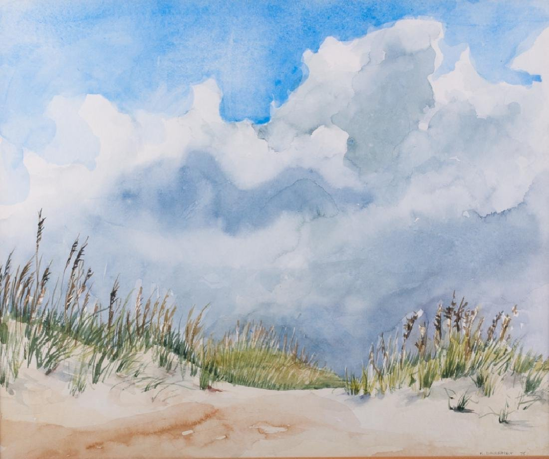 K. Davenport Sand Dune Watercolor