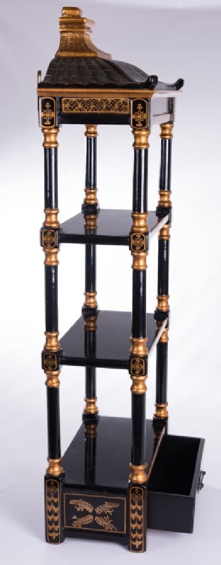 Chinoiserie Wall Hanging Etagere - 6