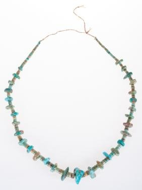 Turquoise Heishi & Nugget Bead Necklace