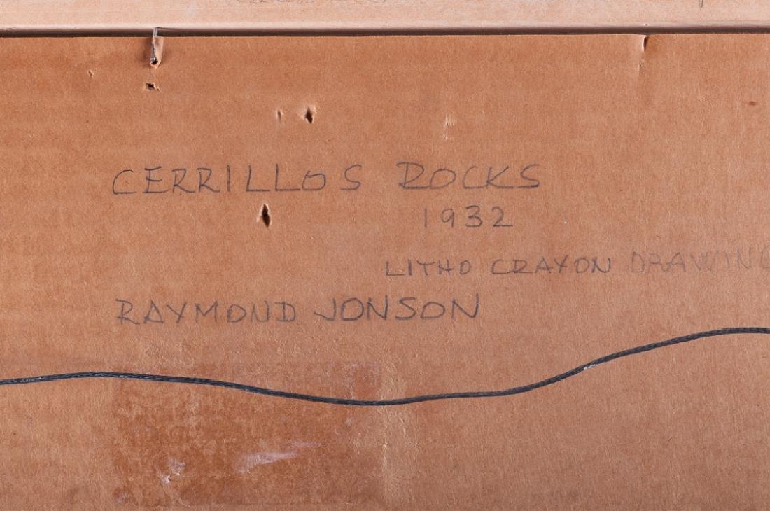 "Raymond Jonson ""Cerrillos Rocks 1932"" Mixed Media - 4"