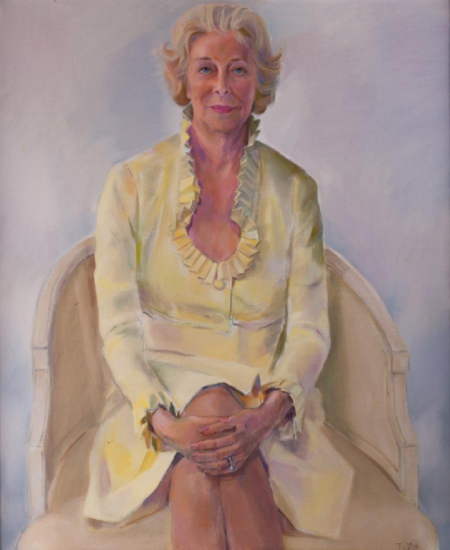 Portrait of Jane Walls Oil on Canvas
