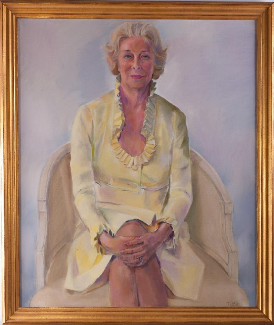 Portrait of Jane Walls Oil on Canvas - 2