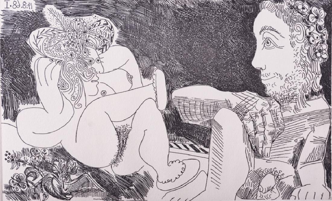 """Picasso """"Odalisque en Pantoufles au Chapeau"""" #9/50"""