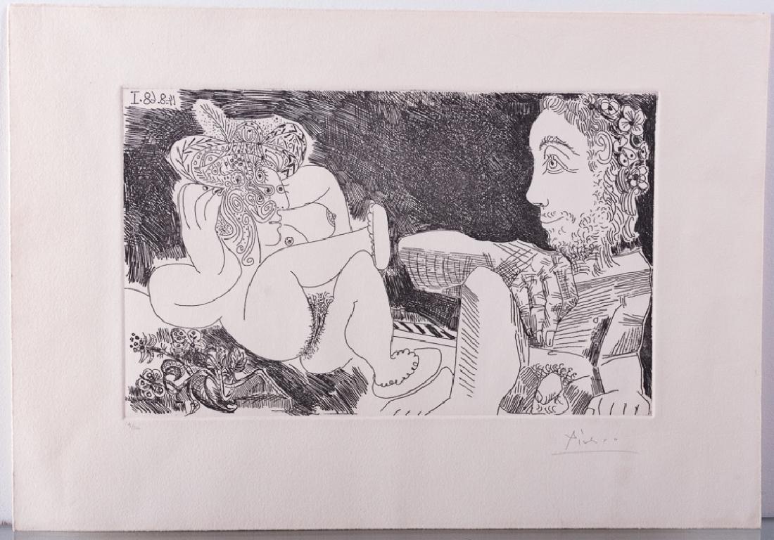 """Picasso """"Odalisque en Pantoufles au Chapeau"""" #9/50 - 2"""