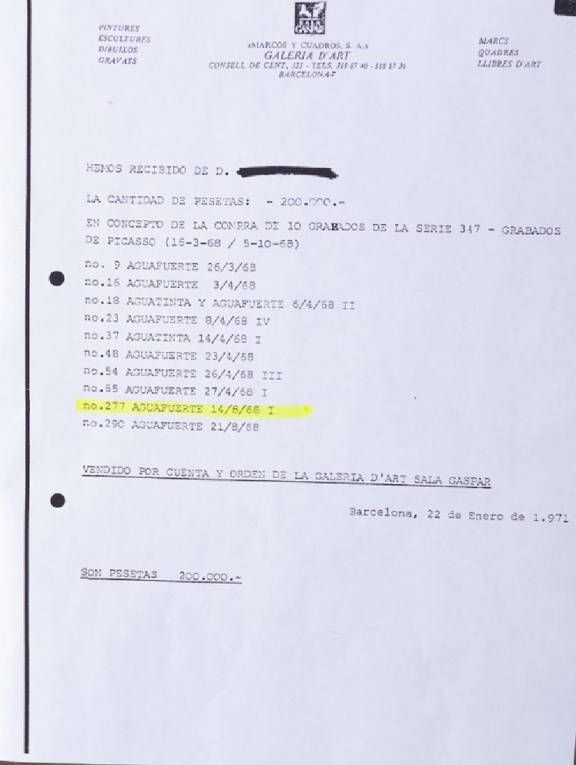 """Picasso """"Odalisque en Pantoufles au Chapeau"""" #9/50 - 9"""
