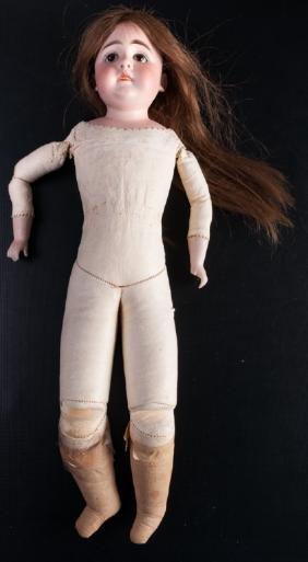 German Bisque Head Doll, Circa 1800