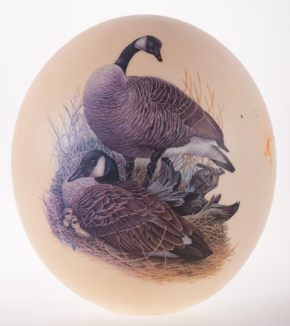 Ostrich Egg with Canada Goose Transfer Design