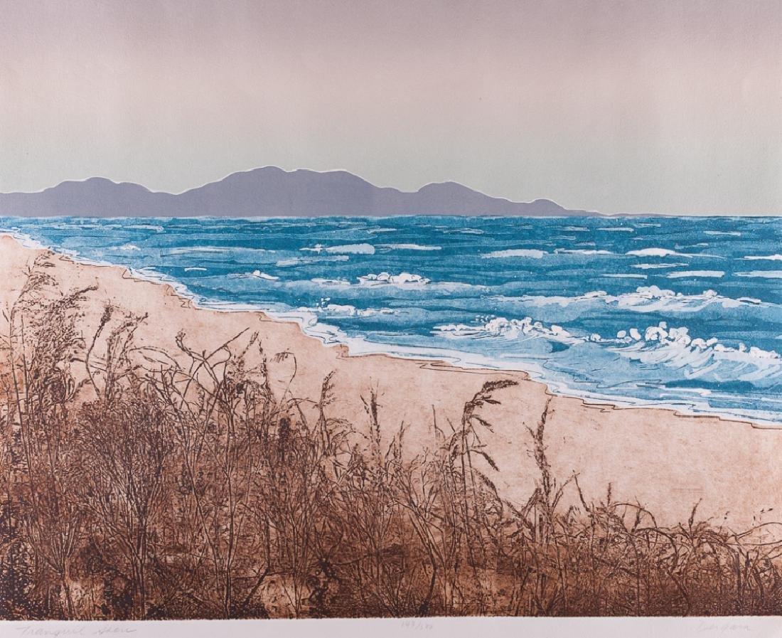 """Ann DerGara """"Tranquil Shores"""" Signed Etching"""
