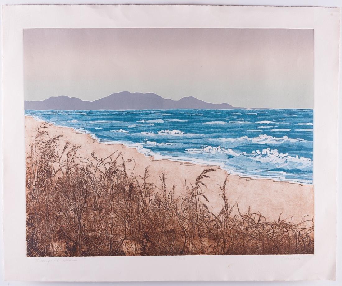 """Ann DerGara """"Tranquil Shores"""" Signed Etching - 2"""